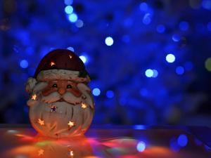 Santa Claus illuminated