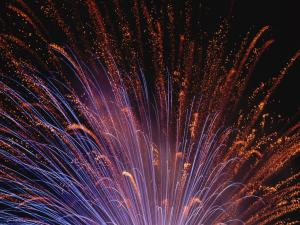 Fireworks covering the nightly sky
