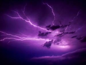 Lightnings covering the sky