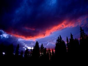 Red and blue sky