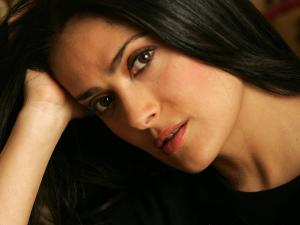 A close-up of actress Salma Hayek