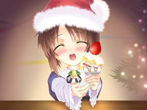Souseiseki (Rozen Maiden) dressed for Christmas