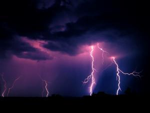 Lightnings at night