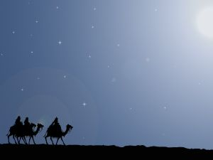The Magi following the Star of Bethlehem