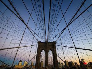 So is sustained Brooklyn Bridge, in New York