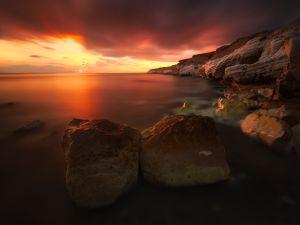 A reddened dawn