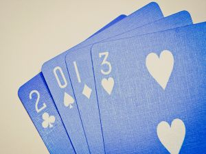 Blue poker cards for 2013