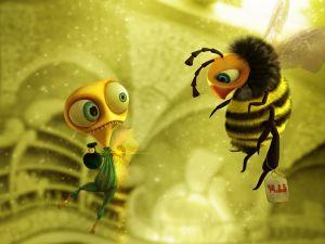 Humour among bees