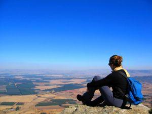 Mountaineer enjoying the scenery