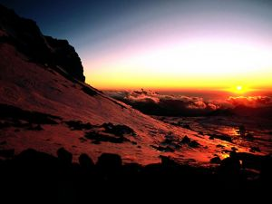 A sunrise above the clouds