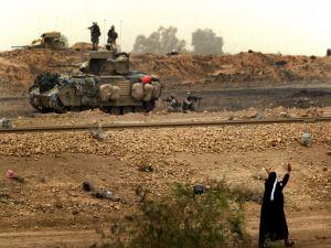 Real military maneuvers in civil territory, Iraq War