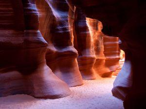 A rocky corridor in the Antelope Canyon (Arizona)