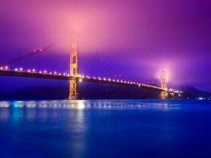 Purple fog over the Golden Gate (San Francisco)
