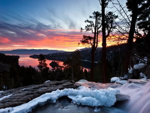 Sunrise at South Lake Tahoe, California