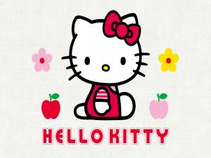 The white cat of Hello Kitty