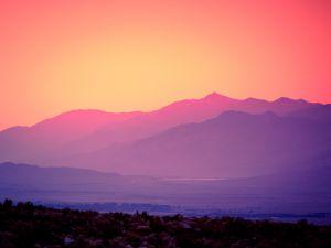 Sunset in Lone Pine, California