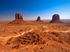 Monument Valley, within the Navajo Nation Reservation (Arizona)