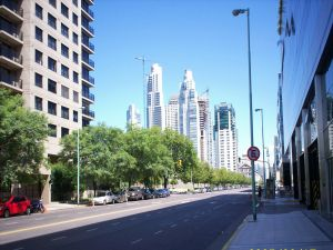 A street in Puerto Madero (Buenos Aires, Argentina)