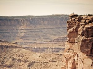 On the brink of precipice (San Juan County, Utah)