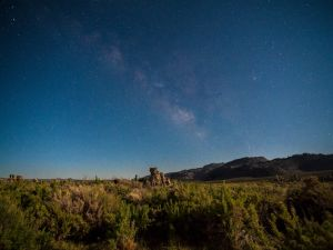 Starry night in Mono Mills, California