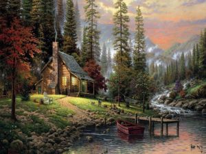 Landscape of the artist Thomas Kinkade