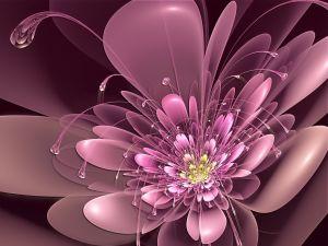 A 3D purple cyber-flower