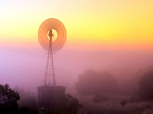 A classic windmill in Portola Valley, California