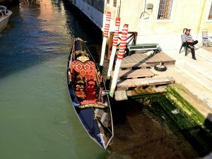 A luxury gondola in Venice