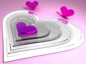 Transparent pink hearts