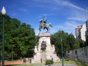 Monument to Giuseppe Garibaldi, Plaza Italia (Buenos Aires, Argentina)