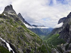 Mountains in Alesund, Norway