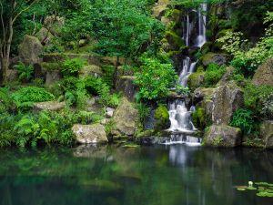 The Portland Japanese Garden, in Portland (Oregon, USA)
