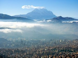 View of the city of La Paz (Bolivia)