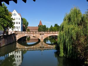 Old bridge in the city of Nuremberg (Germany)