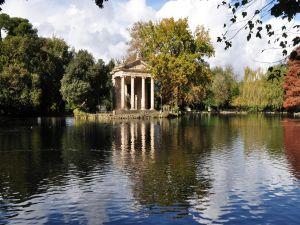 Villa Borghese gardens (Rome, Italy)