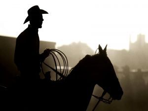 Profile of a real cowboy