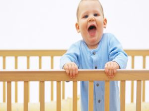 Baby shouting from his crib