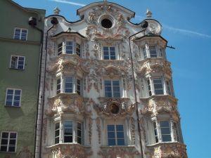 Classical facade of a building in Innsbruck, Austria