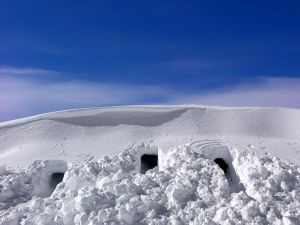 Caves in the snow