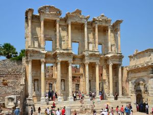 The library of Celsus, in Ephesus (Turkey)
