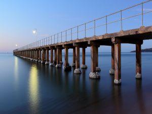 Pier over a calm sea