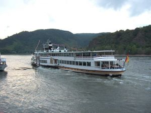 Passenger transport by the river Rhine (Germany)