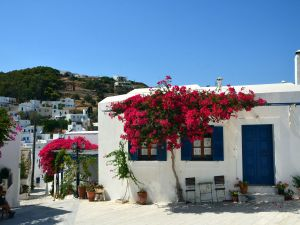 Lefkes, a village on the island of Paros, Greece
