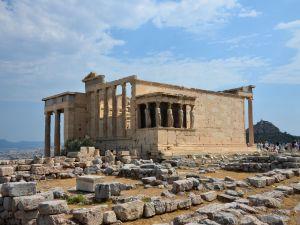Erechtheion, in the Acropolis of Athens (Greece)