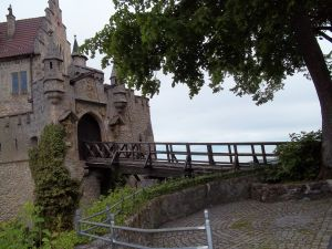 One of the entrances to the Liechtenstein Castle (Austria)