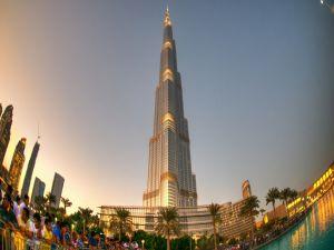 The Burj Khalifa skyscraper, in Dubai, United Arab Emirates