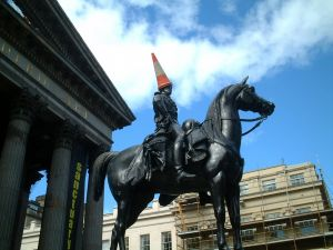 Duke of Wellington, statue outside Gallery of Modern Art, in Glasgow (Scotland)
