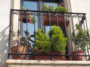 A typical Spanish balcony