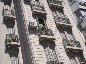 Balconies of a building in Buenos Aires