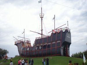 Replica of a caravel, in Buenos Aires (Argentina)